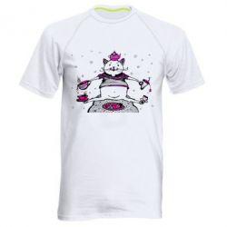 Мужская спортивная футболка Кот чайный бармен