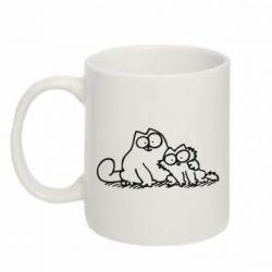 Кружка 320ml Кот и котенок