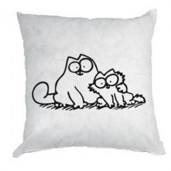 Подушка Кот и котенок