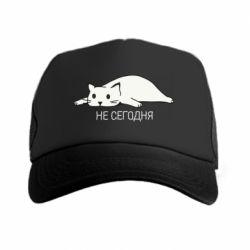 Кепка-тракер Кот и надпись Не сегодня