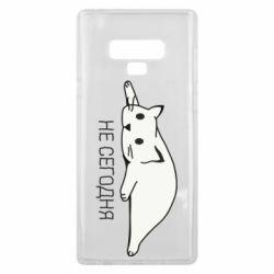 Чехол для Samsung Note 9 Кот и надпись Не сегодня