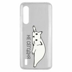 Чехол для Xiaomi Mi9 Lite Кот и надпись Не сегодня