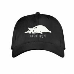 Детская кепка Кот и надпись Не сегодня