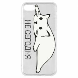 Чехол для iPhone 7 Кот и надпись Не сегодня