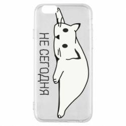 Чехол для iPhone 6/6S Кот и надпись Не сегодня