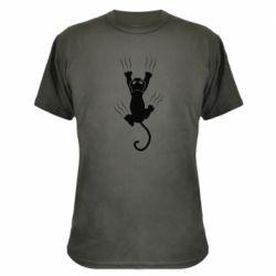 Камуфляжна футболка кот когти