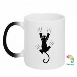 Кружка-хамелеон кот когти