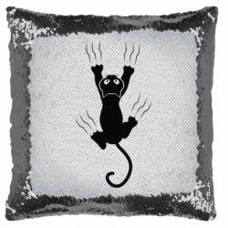 Подушка-хамелеон кот когти