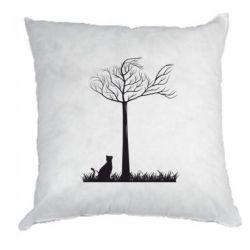 Подушка Кот прыгает на дерево - FatLine
