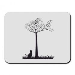 Коврик для мыши Кот прыгает на дерево - FatLine