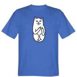 Мужская футболка Кот с факом - FatLine