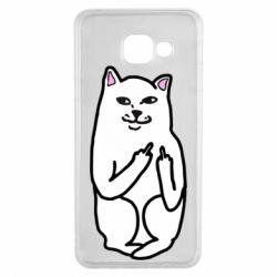 Чехол для Samsung A3 2016 Кот с факом