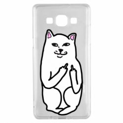 Чехол для Samsung A5 2015 Кот с факом