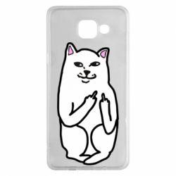 Чехол для Samsung A5 2016 Кот с факом