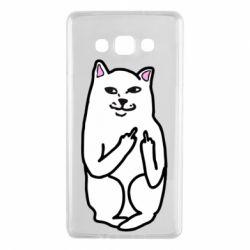 Чехол для Samsung A7 2015 Кот с факом