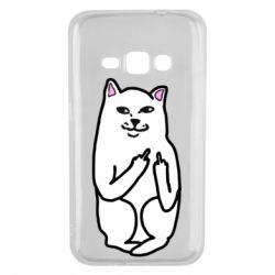 Чехол для Samsung J1 2016 Кот с факом
