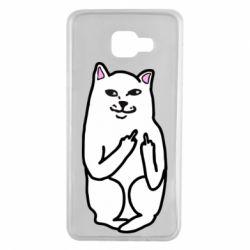 Чехол для Samsung A7 2016 Кот с факом