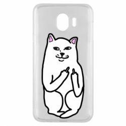 Чехол для Samsung J4 Кот с факом