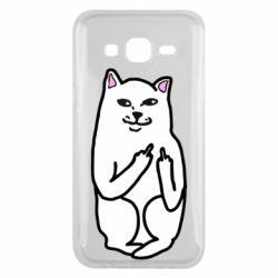 Чехол для Samsung J5 2015 Кот с факом