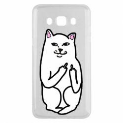 Чехол для Samsung J5 2016 Кот с факом