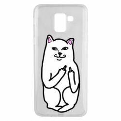 Чехол для Samsung J6 Кот с факом
