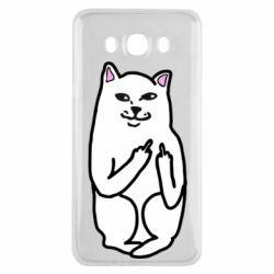 Чехол для Samsung J7 2016 Кот с факом