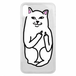 Чехол для iPhone Xs Max Кот с факом