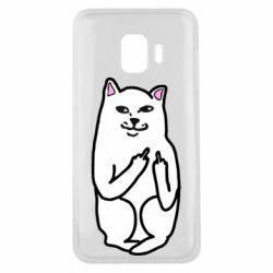 Чехол для Samsung J2 Core Кот с факом