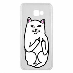 Чехол для Samsung J4 Plus 2018 Кот с факом
