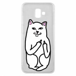 Чехол для Samsung J6 Plus 2018 Кот с факом