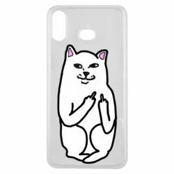 Чехол для Samsung A6s Кот с факом