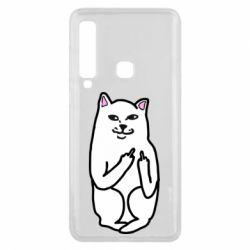 Чехол для Samsung A9 2018 Кот с факом