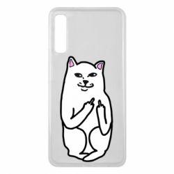 Чехол для Samsung A7 2018 Кот с факом