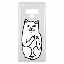 Чехол для Samsung Note 9 Кот с факом