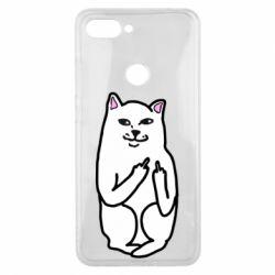 Чехол для Xiaomi Mi8 Lite Кот с факом