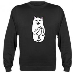 Реглан (свитшот) Кот с факом - FatLine