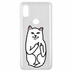 Чехол для Xiaomi Mi Mix 3 Кот с факом