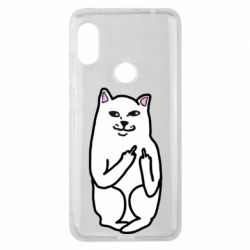 Чехол для Xiaomi Redmi Note 6 Pro Кот с факом