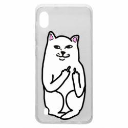 Чехол для Samsung A10 Кот с факом