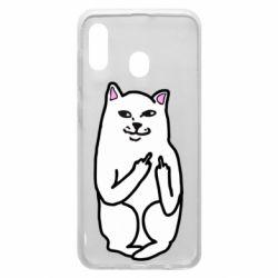Чехол для Samsung A30 Кот с факом