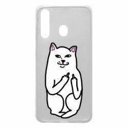 Чехол для Samsung A60 Кот с факом