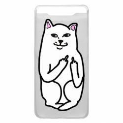 Чехол для Samsung A80 Кот с факом