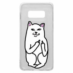 Чехол для Samsung S10e Кот с факом