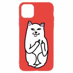Чехол для iPhone 11 Кот с факом