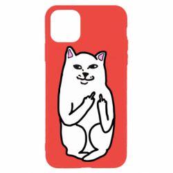 Чехол для iPhone 11 Pro Max Кот с факом