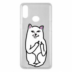 Чехол для Samsung A10s Кот с факом