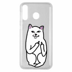 Чехол для Samsung M30 Кот с факом