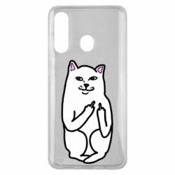 Чехол для Samsung M40 Кот с факом