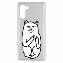 Чехол для Samsung Note 10 Кот с факом