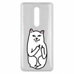 Чехол для Xiaomi Mi9T Кот с факом